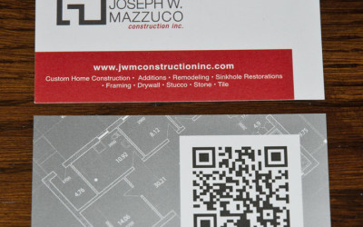 Joseph W Mazzuco Construction Inc Business Cards with QR Tag