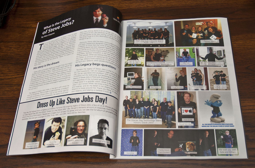 Scott Smith in iPhone Life Magazine – Dress Up Like Steve Jobs Day