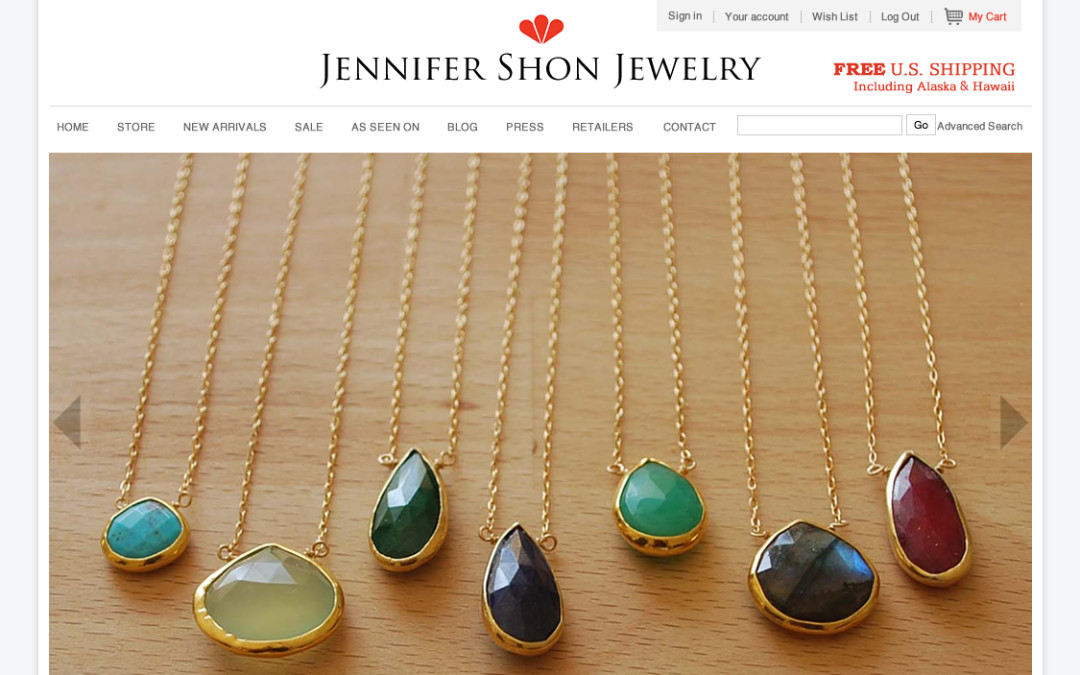 Fresh Site! – Jennifer Shon Jewelry